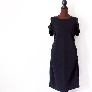 Motherhood Maternity Black A-line Dress Size Large